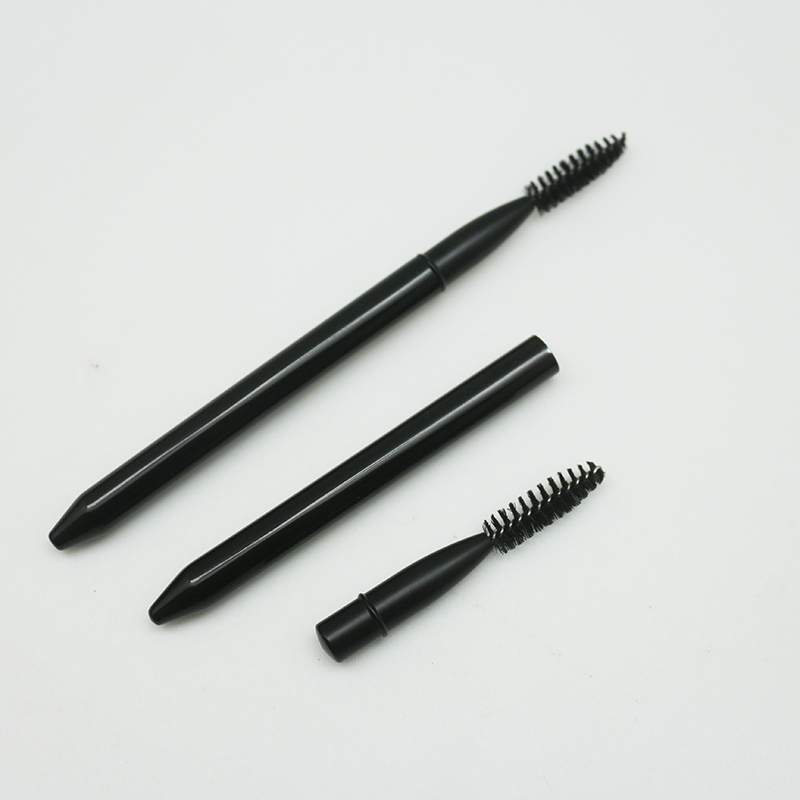 New Arriving private label Replaceable retractable eyelash brush black retractable interchangeable mascara wand makeup brushes