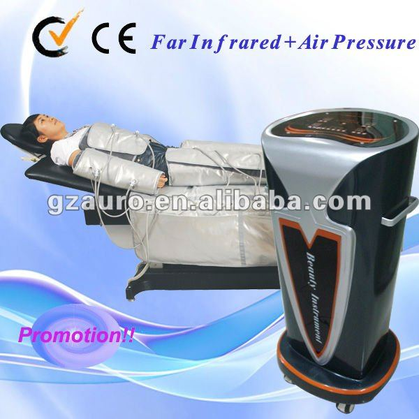 AU-7009 Factory Price Pressotherapy Lymph Drainage Machine/Infrared & Air pressure Body wraps Fat Burning
