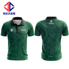 Custom logo sublimate printed polo tshirt wholesale.