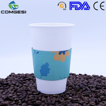 White Coffee Cups Take Away Custom Design Fancy Paper Disposable Cup Logo Printed