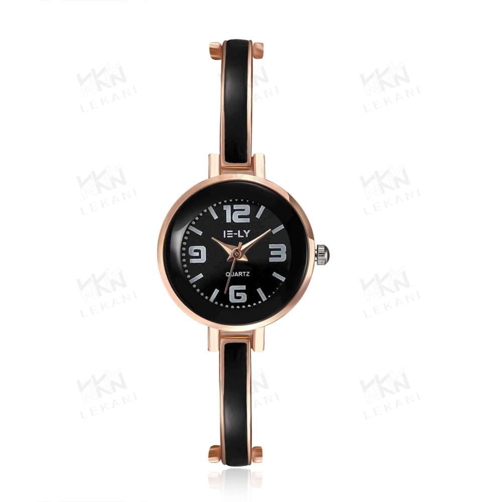 Best fashion black plated watches, quartz lady watch