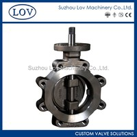 Wholesale Double Offset Lug Fisher 7600 Butterfly Valve Price