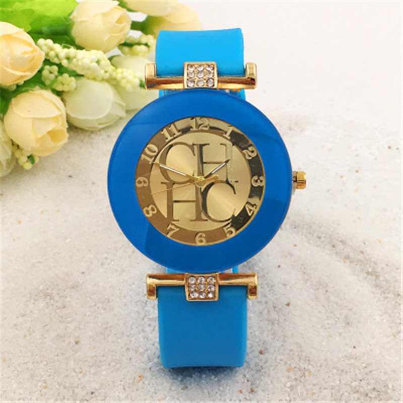 New arrival cheap Nomally Women watch silicone strap Dress Quartz Womens Wrist Watches Ladies Crystal Silicone Relojes clock фото