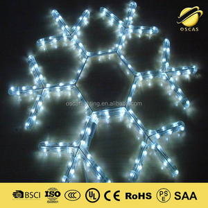 led christmas snowflake motif lights with controller
