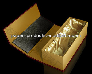 High Quality Folding Paper Box With Gold Silk Form