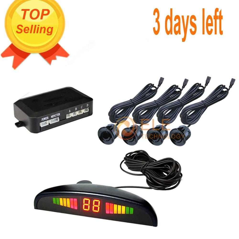 Обратный датчик 12 В автомобилей радар-детектор из светодиодов дисплей парктроник 4 датчики для реверсирования ультразвуковой датчик парковки де estacionamento
