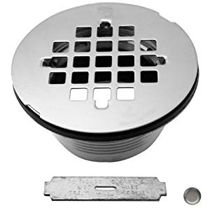 Westbrass Brass Body Compression Shower Drain with Grid, Satin Nickel, D206B-07