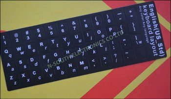 Us Language Laptop Keyboard Sticker Capital Letter And Lowercase