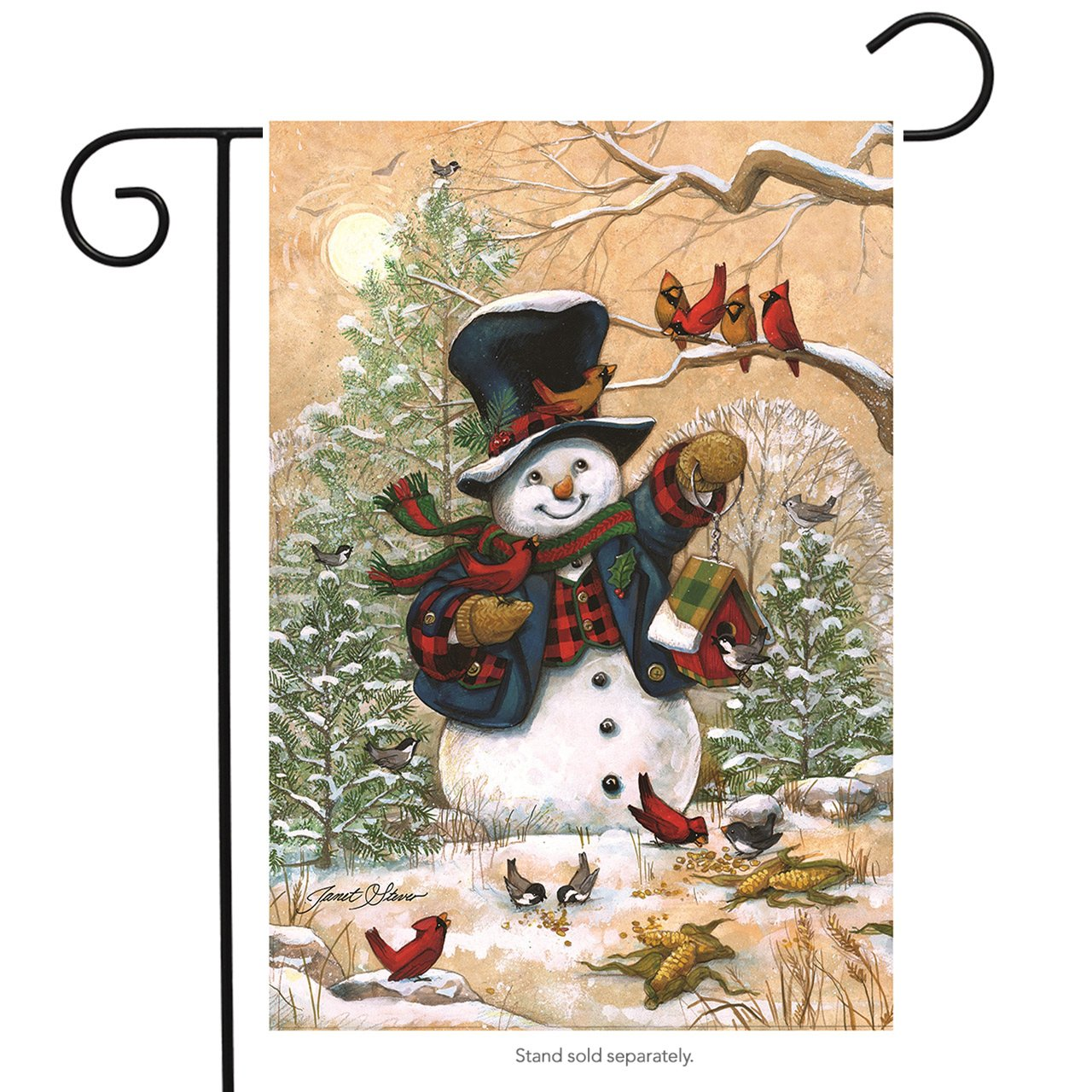 "Welcome Snowman Burlap Garden Flag Winter 12.5/"" x 18/"" Briarwood Lane"