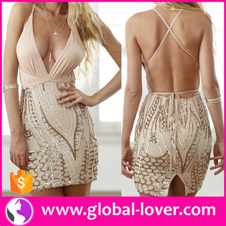 2016 summer new fashion ladies halter one-piece sexy tight short mini party <strong>dresses</strong>