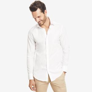 cotton formal shirt white color slim fit men dress shirts