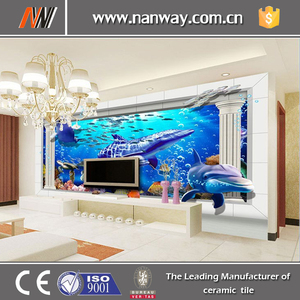 2015 new designs high grade micro crystal porcelain 3d decorative tile