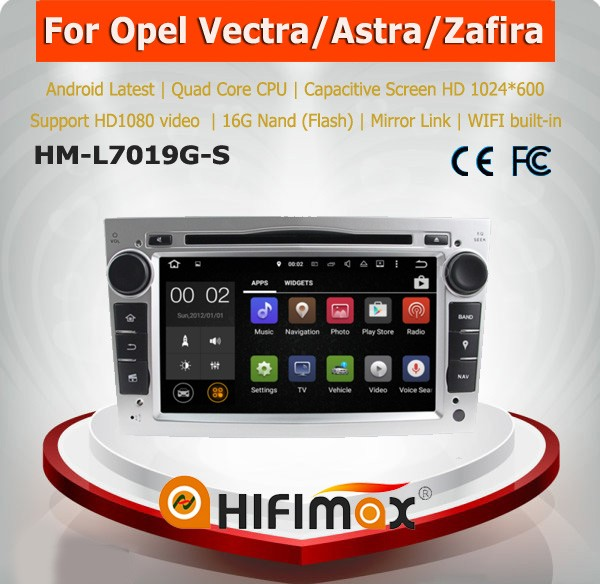 Hifimax Android 5.1.1 7 inch 2 din car dvd player for Opel Astra/Antara/Vectra/Zafira/Corsa car dvd gps navigation system