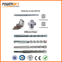 SDS Plus double flute Cross head YG8C Tungsten Carbide Concrete Electric Hammer Electric Drill Bit