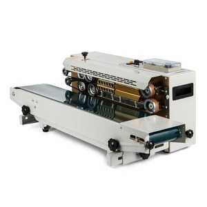 Automatic Horizontal Continuous plastic bag cup Band Sealing Sealer Machine FR900