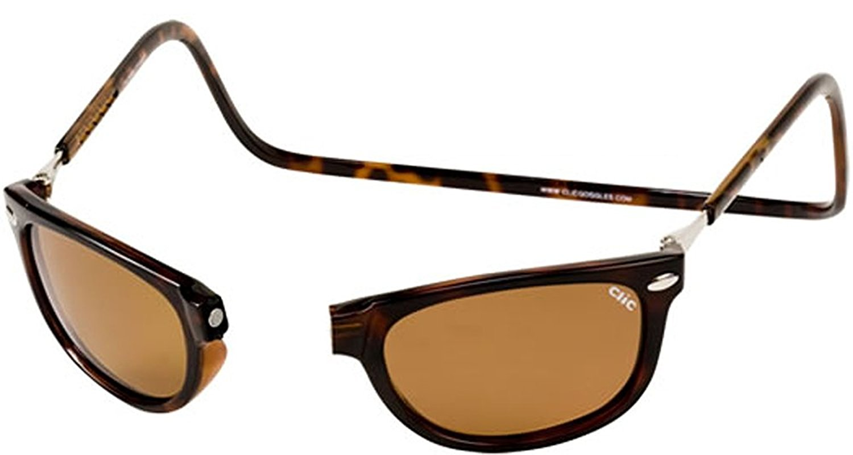 edc793fb2a Get Quotations · Clic Sunglasses - Ashbury Magnetic Tortoise   Frame   Tortoise Lens  Brown Polarized-CLICASHTRT