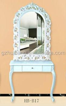 Professional Beauty Salon Mirror Table Make Up Station Hb B17