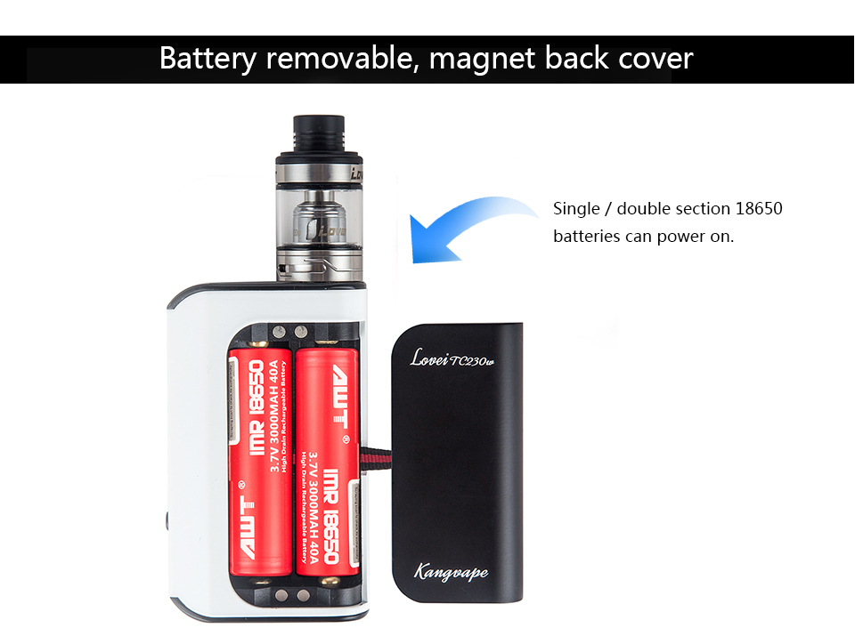 2018 OEM vapor Cigarette Starter Kit Usvpe 230W Big OLED Screen Ecig Variable Wattage Vape Box Mod with Big smoke