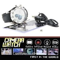 2016 Hot selling products! Spy hidden watch camera with night vision function,built in 16GB memory