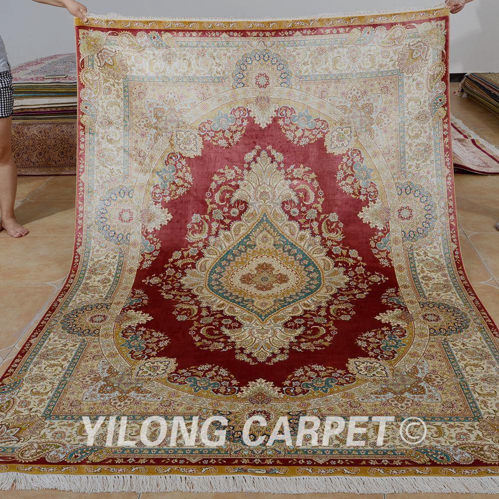 Nanyang alfombra de seda anudada mano alfombra for Alfombra persa seda