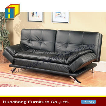 Latest German Divan Sofa Bed Design Eco Friendly Pvc Leather Futon Adjule Foldable