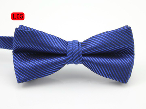 Mens high quality decoration custom plastic bowtie clip on