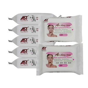 20pcs Non-woven facial cleaning make-up remove wet wipes