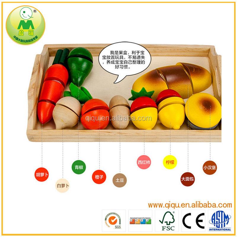 wooden toys simulacin juega el juguete de los nios de corte frutas