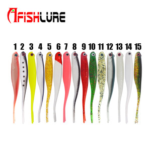 Silicone Bait Fishing Fish Bass Pike Minnow Swimbait Rubber Fish Lures 115mm 7g Plastic Fish Type Soft Lure Artificial Bait
