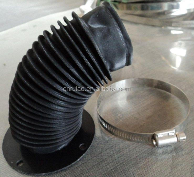 Flexible telescopic dust protective cover for grinder cnc machine