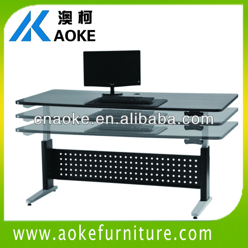 Adjustable height executive office desk