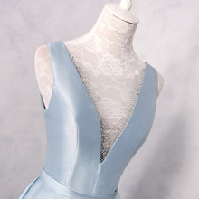 Длинные атласные вечерние платья с открытой спиной, Синие сексуальные платья для выпускного вечера 2020(Китай)