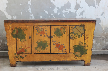 Asian Antique Vintage Hand Painted