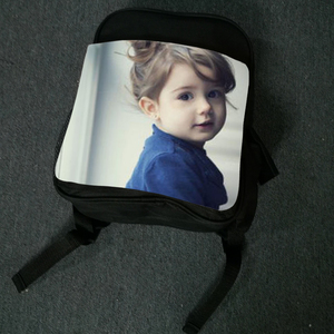 CANVAS Black Color ,sublimation paper printing Children blank shoulder book bag backpack