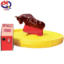 Free optional color mats inflatable mechanical rodeo bull price for sale