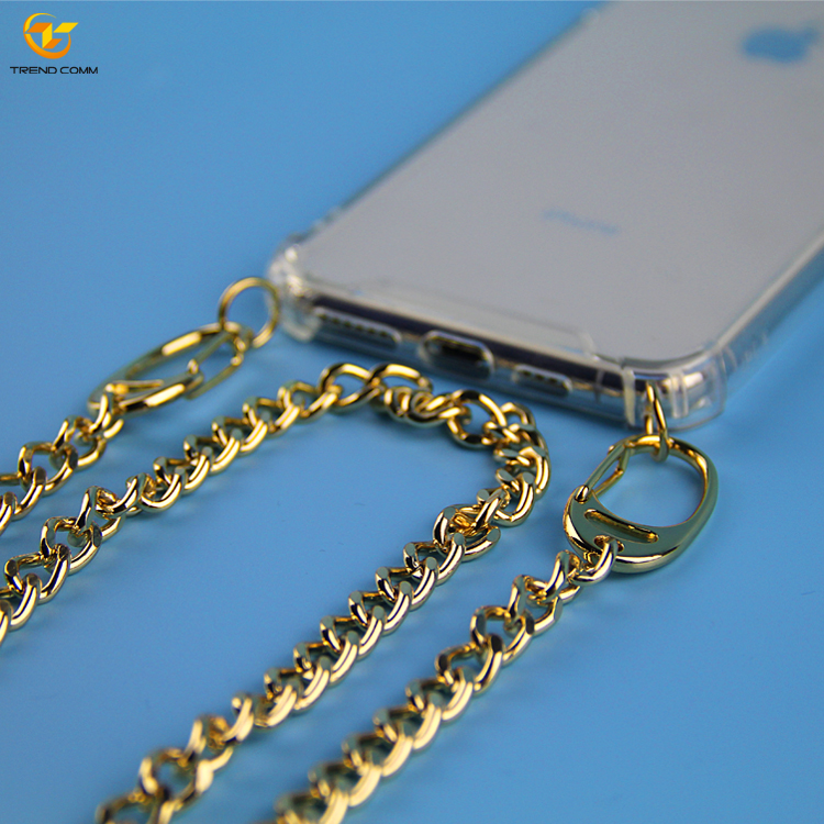 Handykette Acrylic TPU Mobile Cover Chain for iPhone Xs max Necklace Phone Case