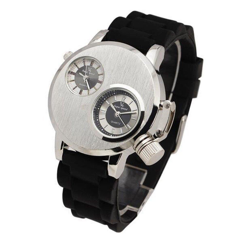 Quartz Analog Wrist Watch Gohome New Mens Silica Gel Date Military Sport Quartz Analog Wrist Watch
