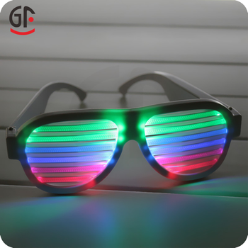 China Novelties Cheap Price Color Changing Rechargeable Led Sound Activated  Promotion Sunglasses 15a2cd028