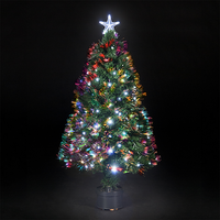 Best Choice Products Pre-Lit Fiber Optic 7' Green Artificial Christmas Tree