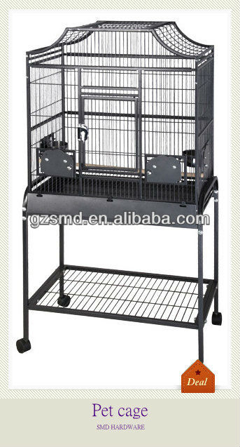 Chinese metal export/import bird cages With Wheels
