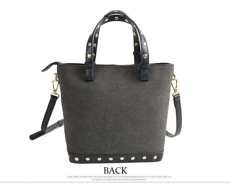 Latest fashion useful black tote ladies bags simple design no label women pu leather handbag