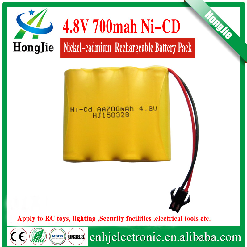 emergency nicd aa 700mah rechargeable battery 4.8v Ni cd AA nickel-cadmium cylindrical batteries