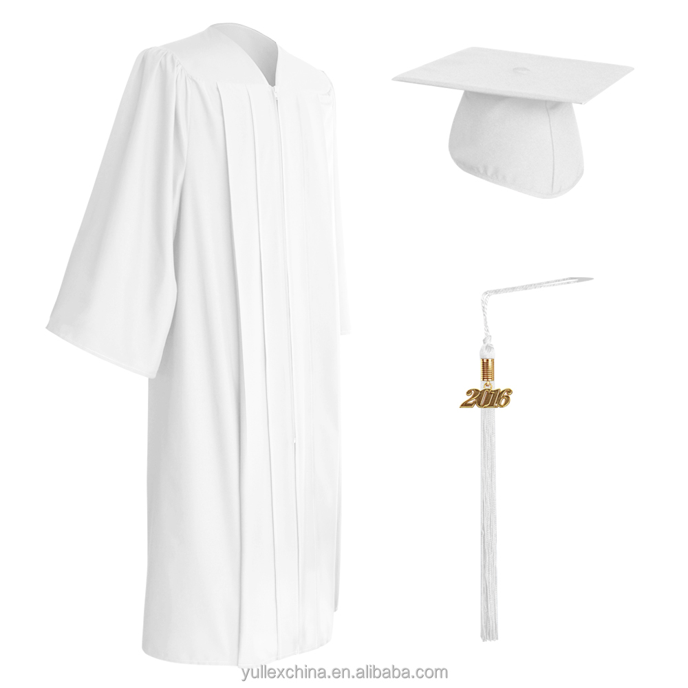 Matte White Graduation Cap,Gown & Tassel - Buy High School ...