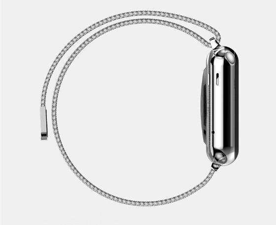 1:1 оригинальный дизайн магнитный Milanese петли часы полоса для Apple , ремешок 38 мм тканые сетка из нержавеющей стали + разъем Adpaters