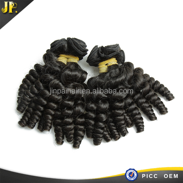 Cheap wholesale human virgin baby curl aaaa peruvian remy hair weave