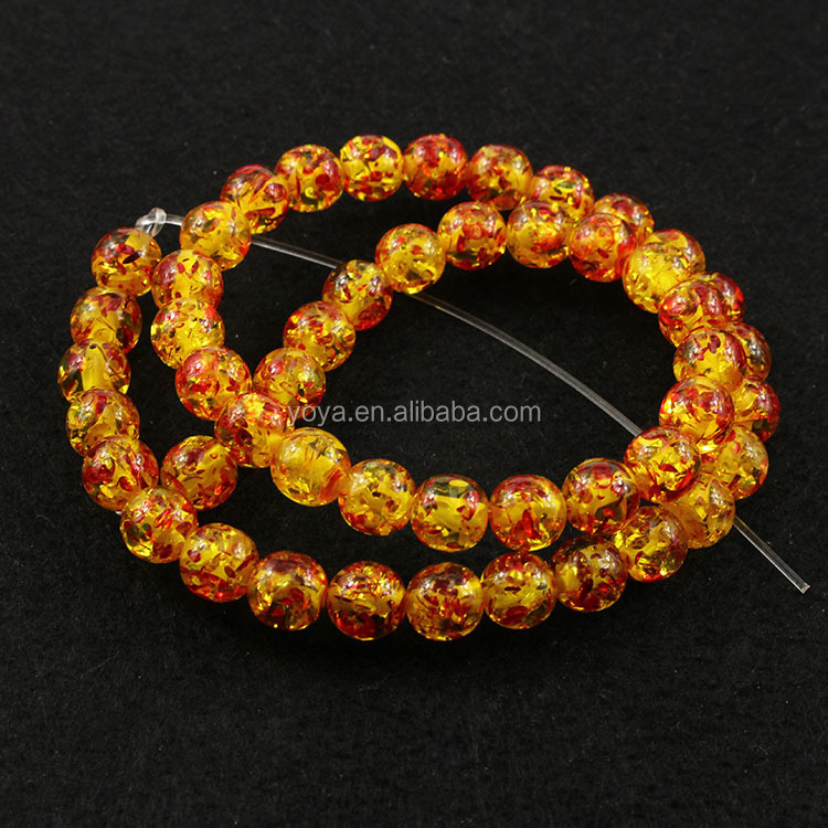 GP0854 Wholesale synthetic amber round beads,manmade amber beads
