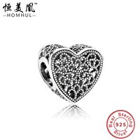 Yiwu Factory European Heart Shaped 925 Sterling Silver Metal Gallery Beads for Jewelry Making Bead Landing Bracelets
