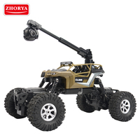 Zhorya 1:16 scale 4wd waterproof battery-powered wifi remote control rc toy car with 360 degrees hd wireless video camera