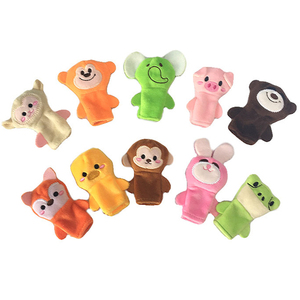 Wholesale Mini Plush Finger Puppets Toys Stuffed funny lovely Plush Animal puppets Finger doll