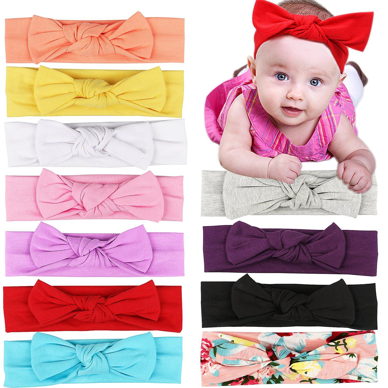 511d92f24 Buy ROEWELL® Babys Turban Headbands Infant Knotted Headbands Newborn ...